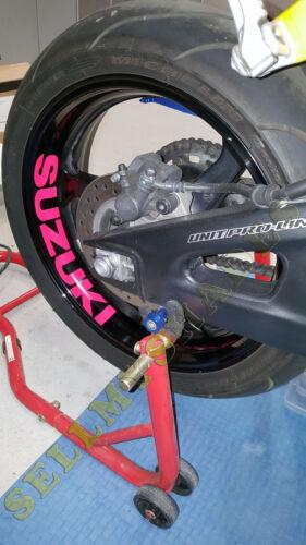SUZUKI MOTORCYCLE RIM STRIPE WHEEL DECAL GSXR HAYABUSA GLADIUS SV 600 100 1300