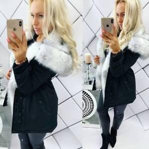 Winter K Ladies Incredibile Black Taglia Ombre Parka Trim 10 M Jacket zell 38 YAq6ngnU1