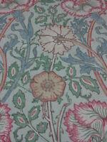 WILLIAM MORRIS CURTAIN FABRIC DESIGN   PINK AND ROSE   2.5 METRES DK3567