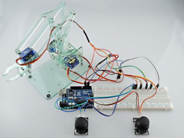 [Sintron] Mini Industrial Robotic Arm Kit +UNO R3 for Arduino Starter