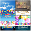 thumbnail 2 - Doodlecards Pack of 10 Standard Size Contempory Mixed Birthday Cards