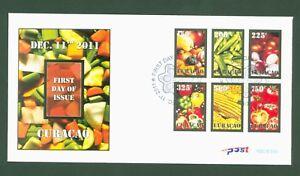 Charmant Curaçao 2011-légumes Taureau Vegetables Légumes Verdure-nº 68-73 (bl. 4) Fdc-afficher Le Titre D'origine