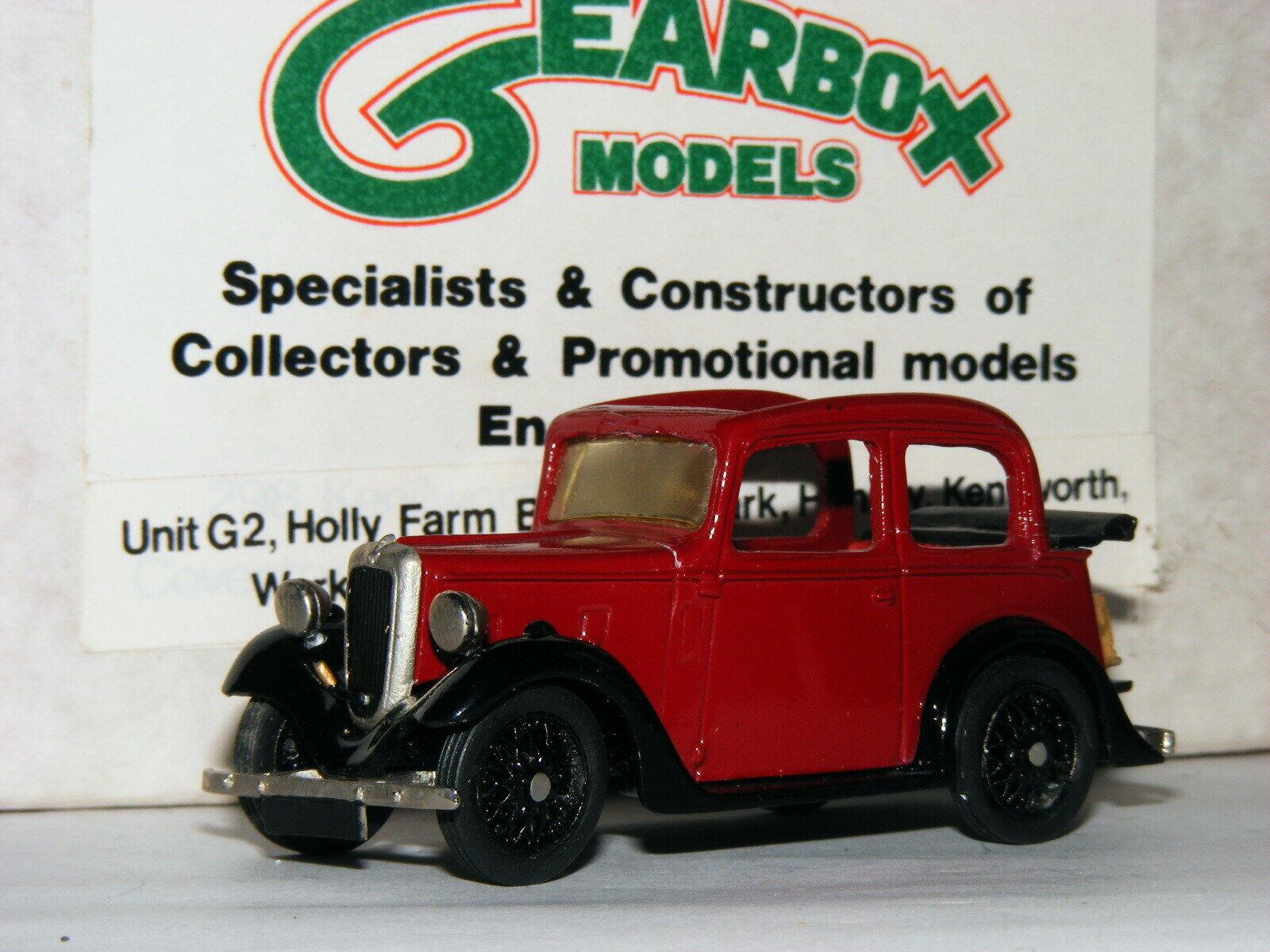calidad garantizada Caja de engranajes Modelos Austin 7 Perla Cabrio Rojo Negro Negro Negro 1 43  increíbles descuentos