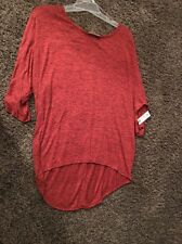 NWT 2X Bobbie Brooks Plus Size Rust And Black Hi-Lo Tunic Style Shirt