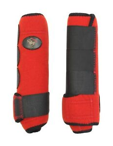 Crystal-Ace-Equestrian-Horse-Boot-Red-Neoprene-Leg-Wrap