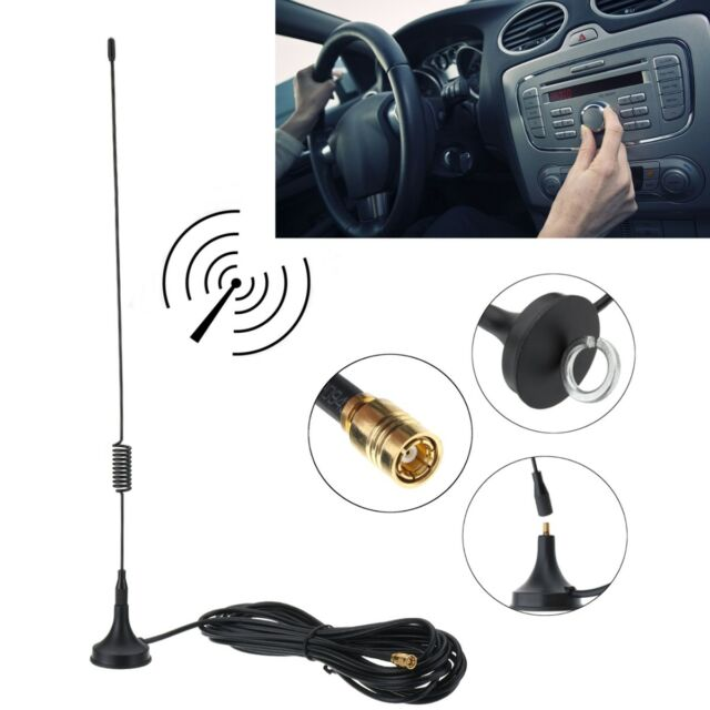 DAB Aerial Antenna For Car SMA Radio Magnetic Base 28cm High Gain 4m Cable !
