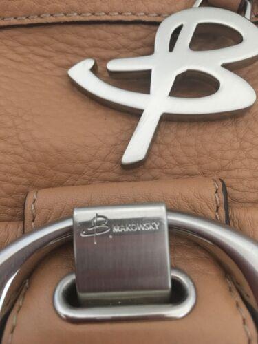 B Makowsky Genuine Leather Bag Crossbody Messenger Designer Fashion Chic Hip