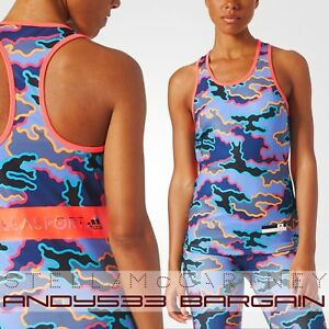 on sale ed460 cf990 Image is loading adidas-McCartney-STELLA-SPORT-Athletic-Camo-Perf-Tank-