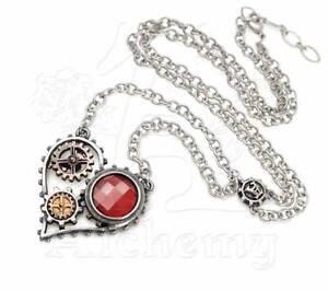 Coeur-Du-Moteur-Pendant-Alchemy-Gothic-Empire-Steampunk-Heart-Jewellery-P708