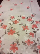 Floral Shower Curtain Beige Taupe Salmon Colors Dogwood Flowers Fabric New