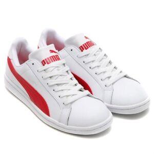 Details about Puma Classic Retro Smash L White-High Risk White & Red  35672209