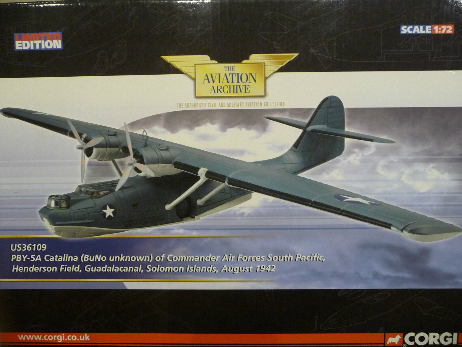 NEW Corgi Aviation US36109.PBY-5A Catalina (BuNo unknown), Ltd Ed  1400 of 1400