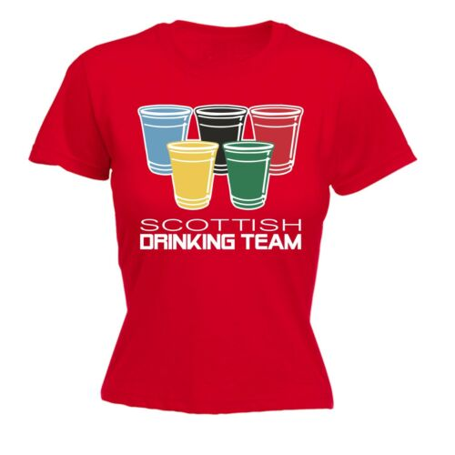 Women/'s Scottish Drinking Team Funny Joke Humour Pub Bar FITTED T-SHIRT Birthday