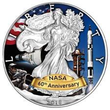 USA 1 Dollar 2018 Silver Eagle Gemini-Programm 60 Jahre NASA (5.) 1 Oz Silber ST