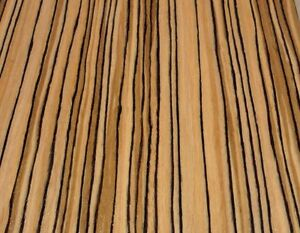 "Zebrawood African genuine wood veneer 24/"" x 96/"" with paper backer 1//40th/"" thick"