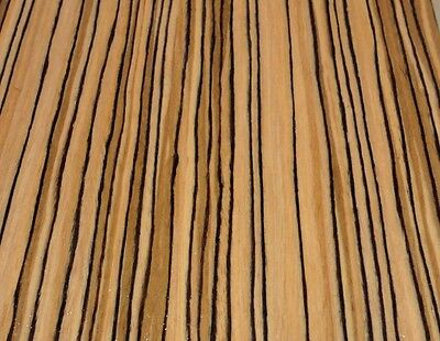 """Zebrawood African composite wood veneer 24/"""" x 48/"""" raw no backer 1//42/"""" thick"""