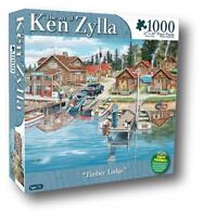 Karmin Jigsaw Puzzle Timber Lodge Ken Zylla 1000 Pcs 8561-6 Places Nostalgia