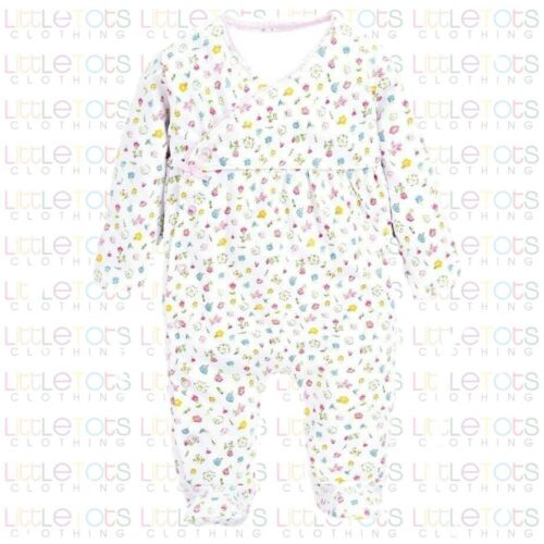 ex UK Chainstore Brand Pretty Floral Sleepsuit Romper Footie RRP £18 0-12 months