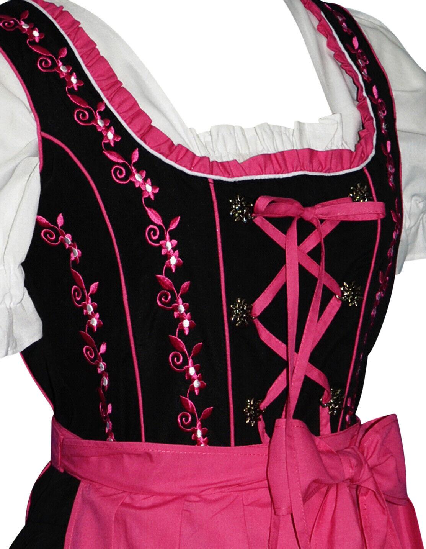 Sz 16 Vestido Dirndl alemán  Camarera anfitriona Oktoberfest ver parte trasera-Bordado  Ahorre 60% de descuento y envío rápido a todo el mundo.