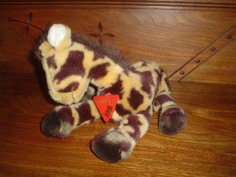 Dakin Vintage 1989 Giraffe Stuffed Plush with Tags