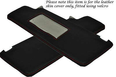 RED STITCH FITS VW GOLF 3 MK3 JETTA 94-98 2X SUN VISORS LEATHER COVERS ONLY
