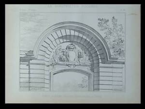 PARIS, AVENUE MONTAIGNE, PORTE COCHERE - 1896 - PLANCHE ARCHITECTURE - France - Thme: Architecture Période: XIXme et avant - France