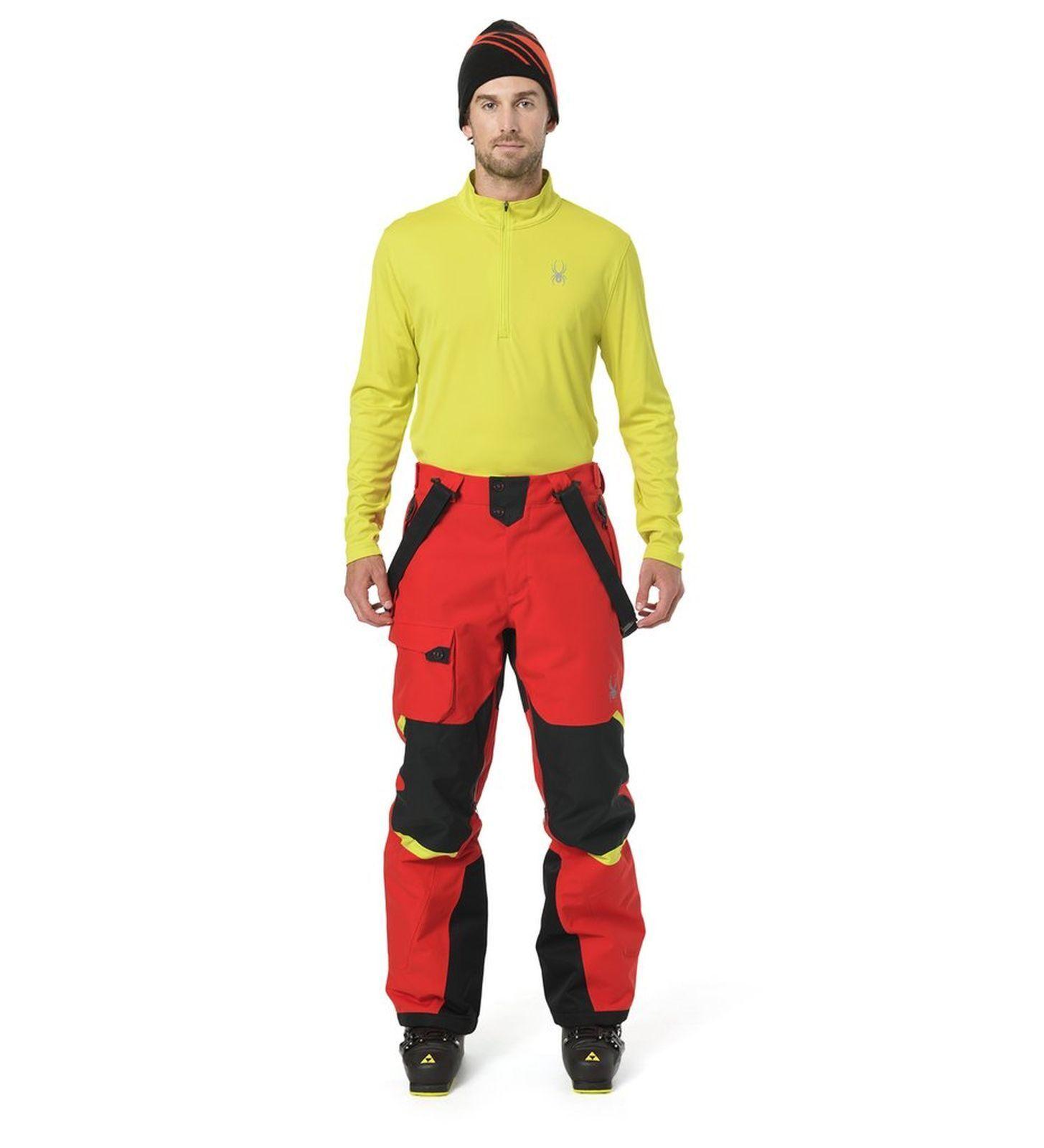 Spyder men Skirolli Sweatshirt senza Limiti Solid Zip Dry Boxer Collo-T Acido