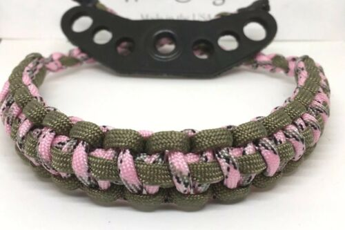 Compound Bow Pink Realtree Camo Wrist Sling Band Strap Paracord Hunting Archery