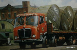 AEC-Truck-Lorry-British-Road-Services-Transport-Art-Metal-Sign-By-Mike-Jeffries