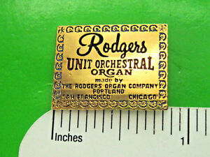 Image Is Loading RODGERS Organ Hat Pin Hatpin Lapel Pin Tie