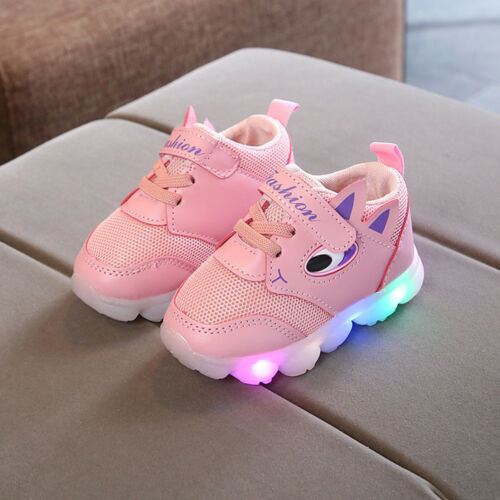 Toddler Baby LED Light Shoes Boys Soft Luminous Outdoor Sport Shoes Sneakers I