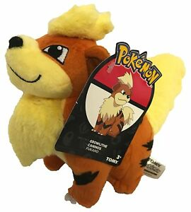 POKEMON-GROWLITHE-RARE-EXCLUSIVE-OFFICIAL-TOMY-LICENSED-8-034-PLUSH-NEW-w-TAGS