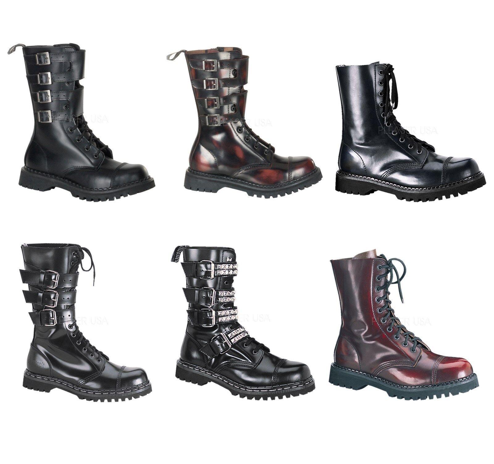 DEMONIA Men's Leather Steel Toe Calf Boot Attack-10 Gravel-10S 14 Rocky-10