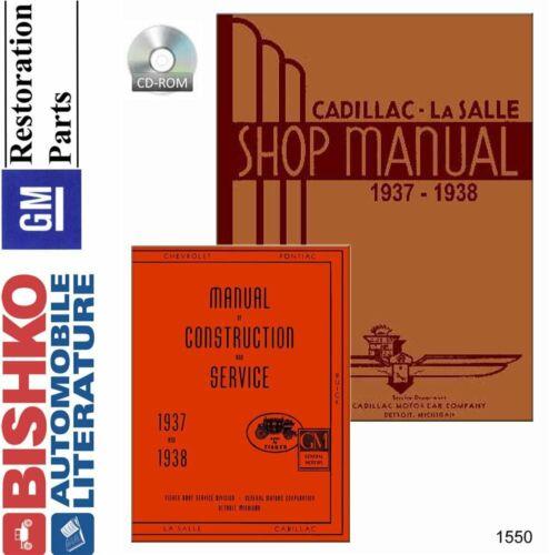 OEM Shop Manual CD Cadillac All Models /& Fisher 1937-1938