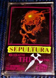 Sepultura-Beneath-The-Remains-Cassette-Tape-Plays-Well-Black-Thrash