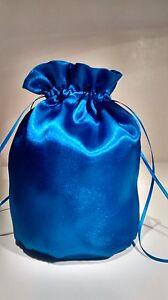 Bleu Royal Brillant Satin Dolly Sac. Mariée/demoiselle D'honneur/mariage-afficher Le Titre D'origine