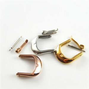 Multi-Color-Stainless-Steel-Watch-Band-Clasp-Strap-Pin-Buckle-For-Universal