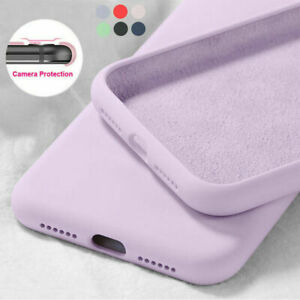 Case-For-iPhone-11-Pro-Max-XR-8-7-6s-SE-2020-Liquid-Silicone-Colorful-Soft-Cover
