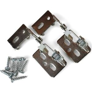 "(2) Non-wrap 1/2"" Overlay Self-closing Knife Cabinet Hinges, Nickel, 12a-r #65"