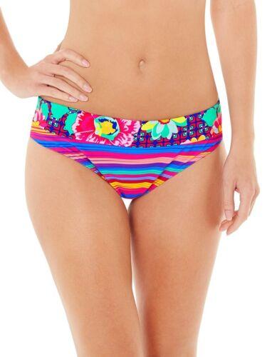 LEPEL Sun Kiss piega Bikini Bottom//pantalone//breve Rosa//Multi 157179