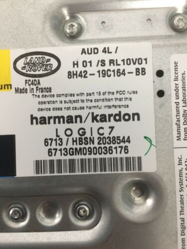 DISCOVERY 3 /& 4//Range Rover Sport HARMAN KARDON Logic 7 Amp 8H42-19C164-BB