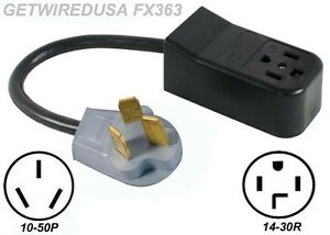 NEW 4-PRONG 14-30R DRYER RECEPTACLE to OLD 3-PIN 10-50P ...