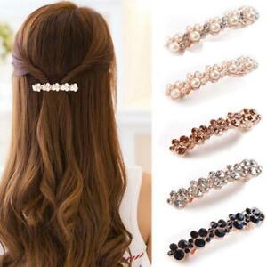 HAIR-BARRETTE-CLIP-clips-barrettes-slide-slides-VINTAGE-DIAMANTE-crystal-New