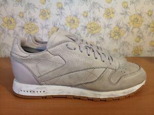 Mens-Reebok-Classic-Soft-Grey-Leather-Trainers-UK-8