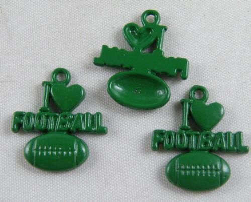 20pcs Football Tibetan Silver Green Enamel Charms 18.5x21x3mm 14125-3