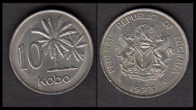 ★★ NIGERIA  ● 10 KOBO 1973 ● Réf. 135 ★★