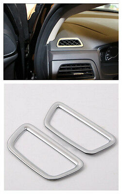 Matt Interior Upper Air Condition Vent Cover Trim 2pcs For Honda CRV 2012-2015