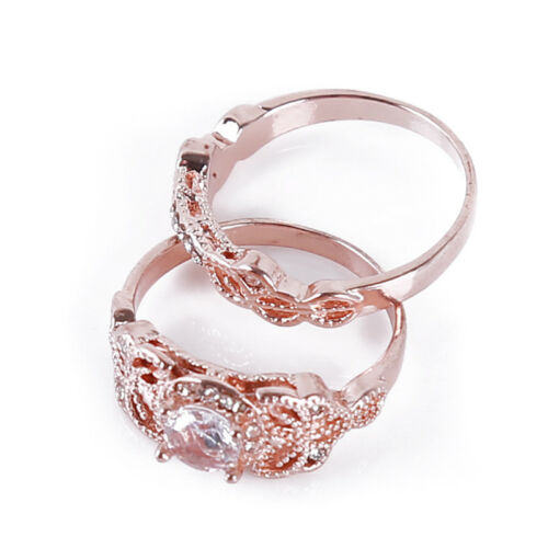 Ladies Jewelry Women Romantic Shiny Zircon Austrian Rhinestone Rings Set 8C