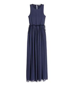 finest selection eb540 1da41 Details zu H&M Langes Kleid Abendkleid Traumkleid Hochzeit- Gr.46  dunkelblau Neu zu Jacke