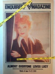 Details about Vintage 1981 LUCILLE BALL Enquirer TV Magazine Newspaper  Supplement I Love Lucy